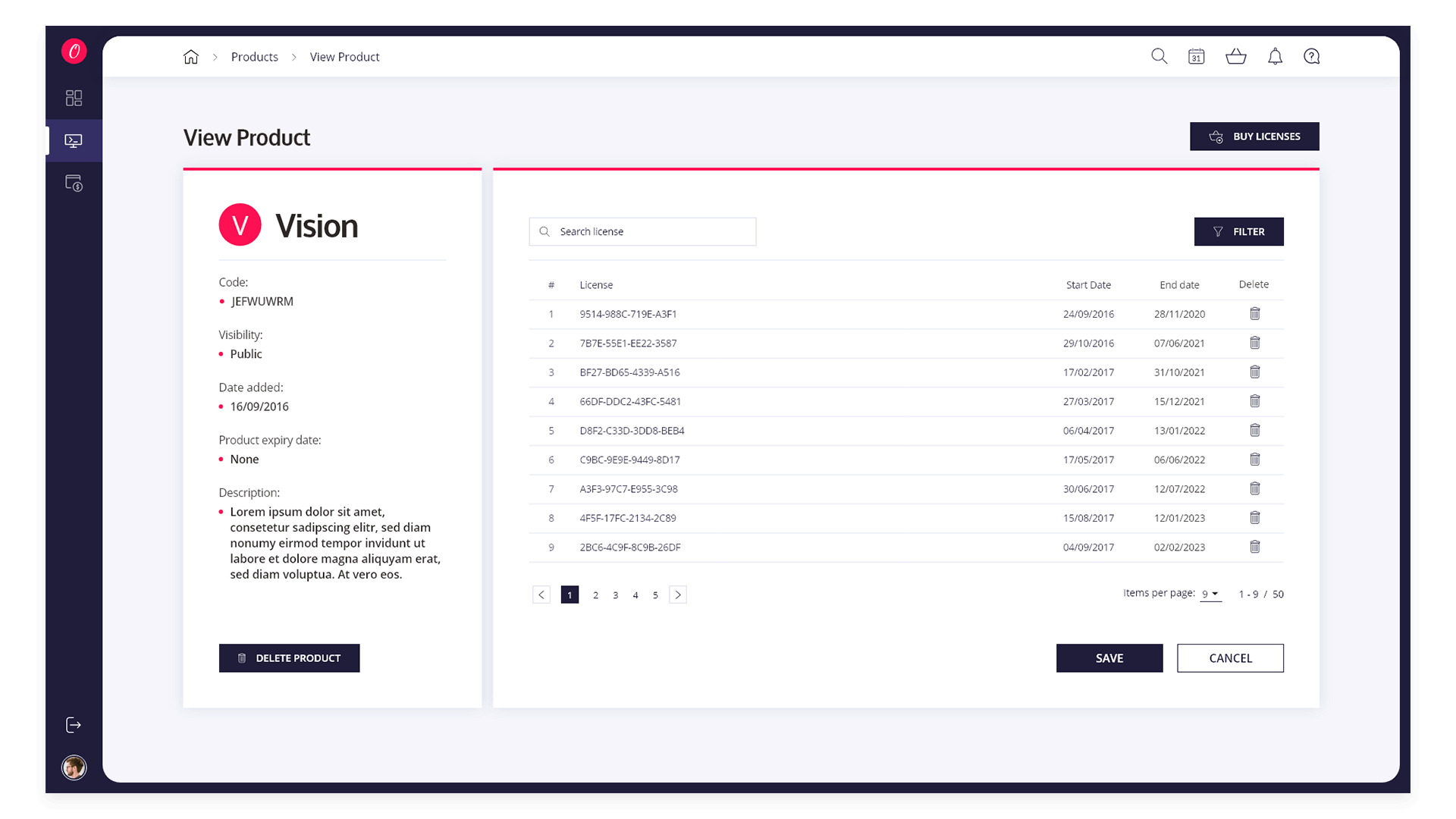 View Product Page (with licenses)