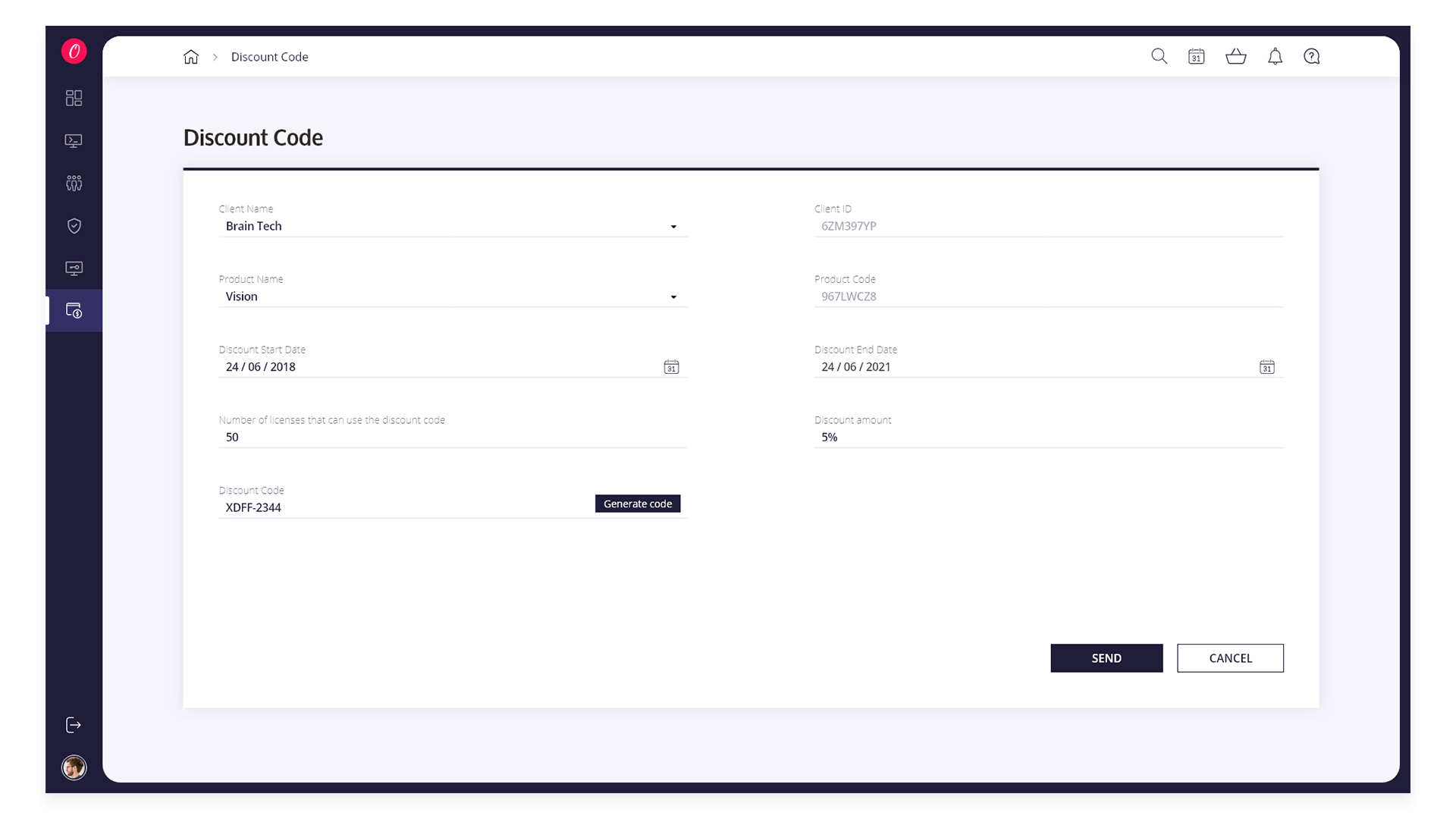 View Client Page